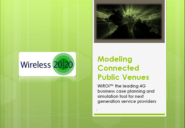 Modeling Connected Public Venues Using the New WiROI Venue Tool
